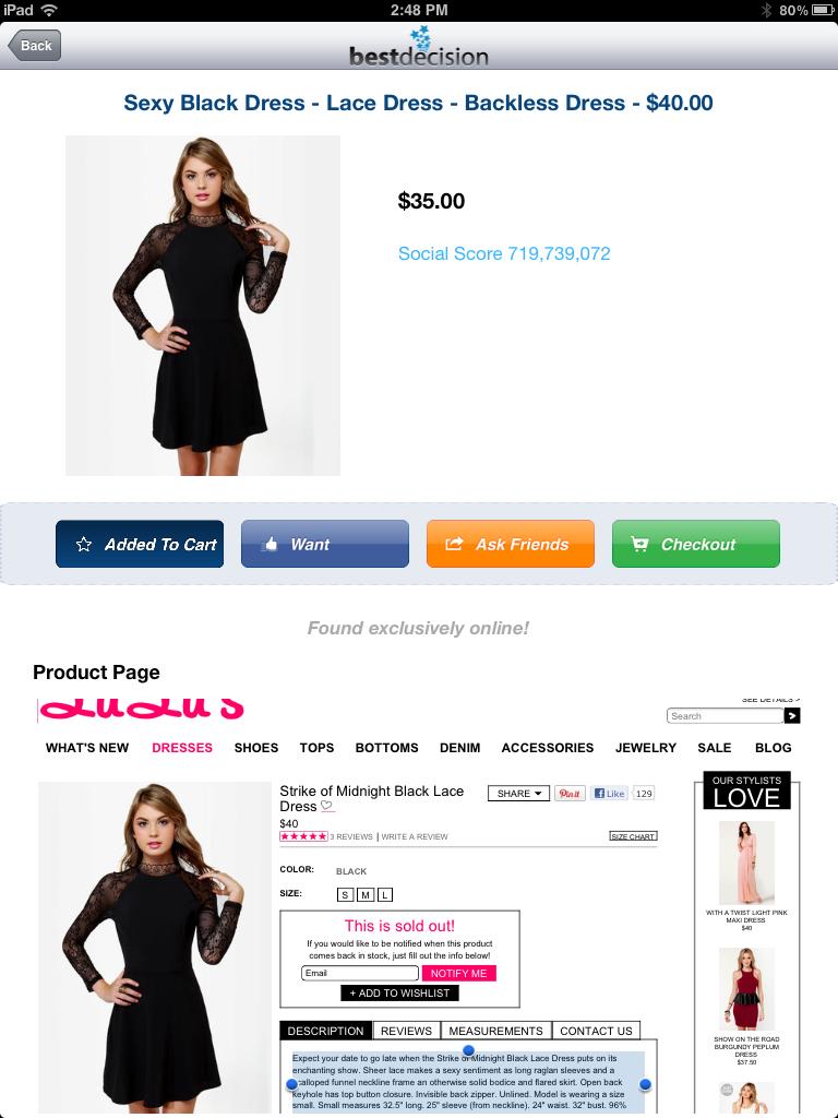 Mi experiencia de compra virtual en #Leap Commerce #llblog. Mi sexy vestido negro.
