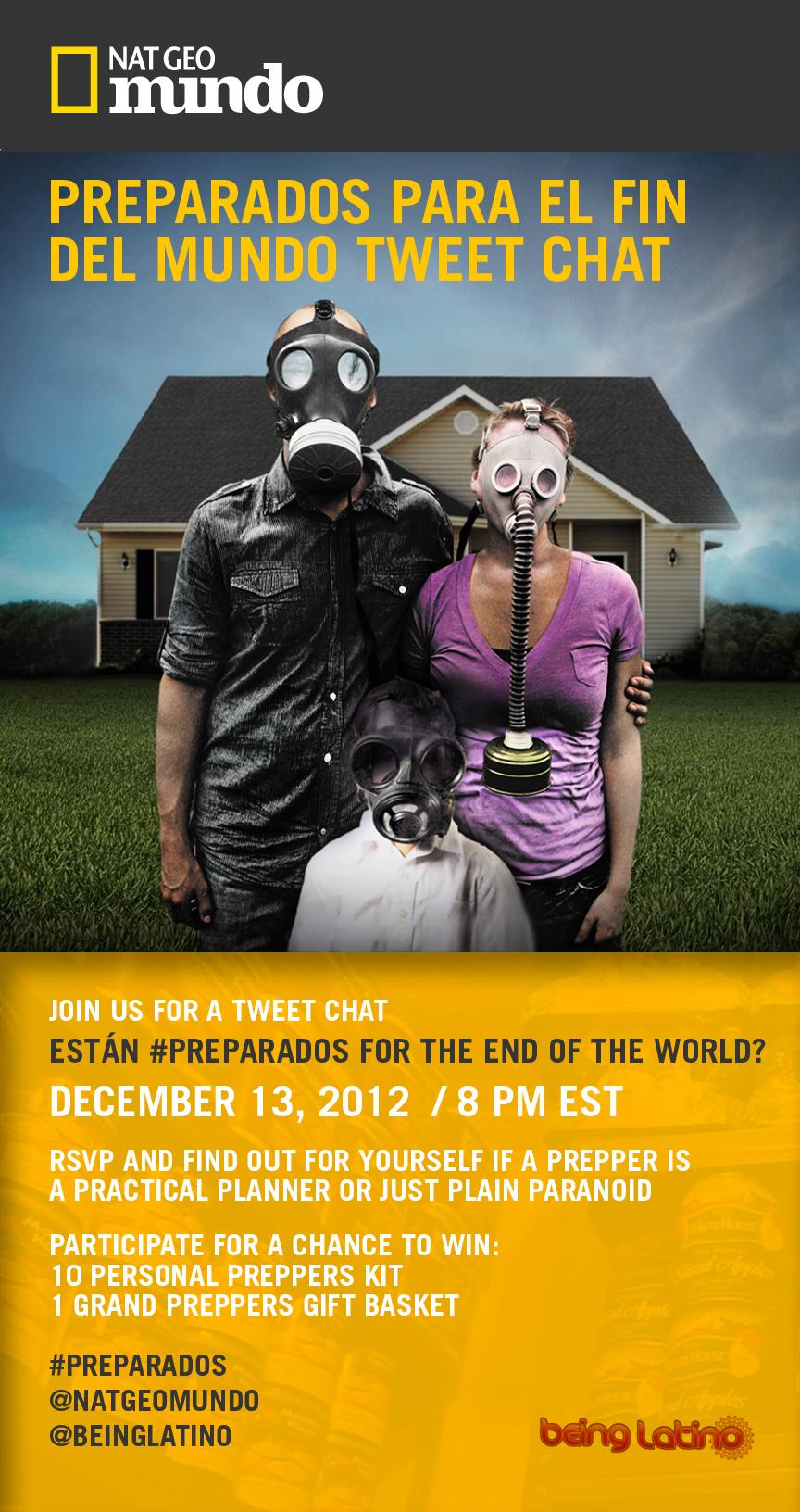 Acompáñanos al Tweet Chat #Preparados para el Fin del Mundo.