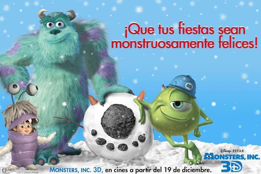 """""""Monsters, Inc."""" un regalo navideño en 3D."""