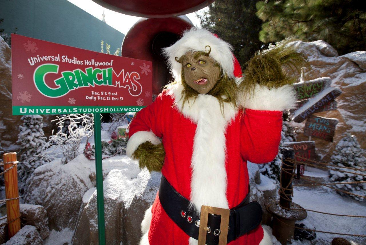 """Ya llegó """"Grinchmas"""" a Universal Studios Hollywood."""