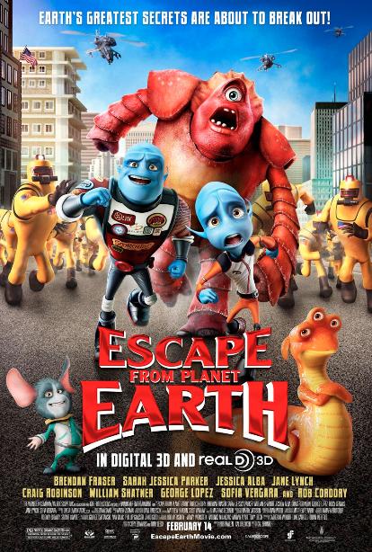 """Sorteo """"Escape From Earth"""". Mucho talento latino en la cinta animada."""