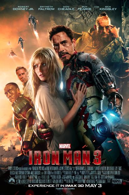 """Nuevo Póster de """"Iron Man 3"""" versión para IMAX y Experiencia #FIOSIM3."""