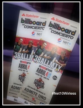 Billboard en Concierto: 3BALLMTY en LA. Experiencia móvil virtual #Net10Latino.