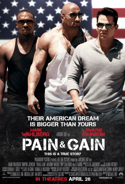 "Nuevo Póster de ""Pain & Gain"" con Mark Wahlberg y Dwayne Johnson."