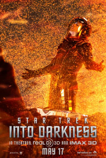 """Alucinantes los pósters de la nueva peli de Viaje a las Estrellas… """"Into Darkness"""""""