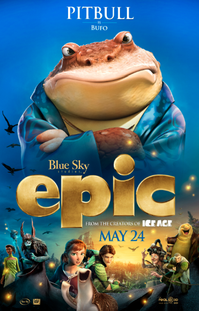 "Pitbull le da vida a un personaje animado en ""Epic""."