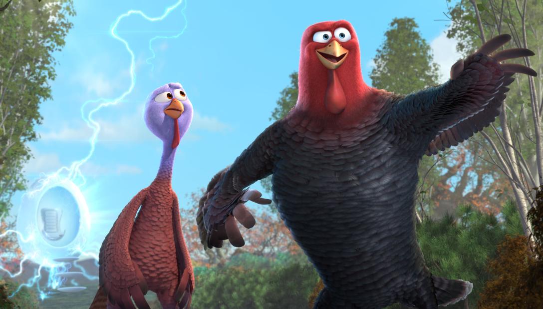 """""""Free Birds"""" una animación que imagina una Cena de Acción de Gracias """"sin pavos""""."""