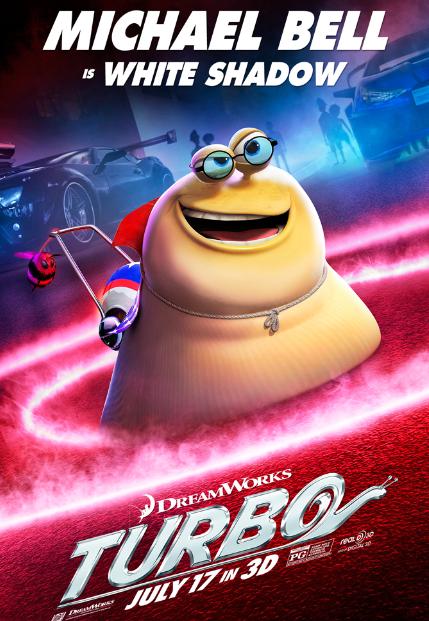 """Conoce a los personajes de la película animada en 3D """"Turbo""""."""