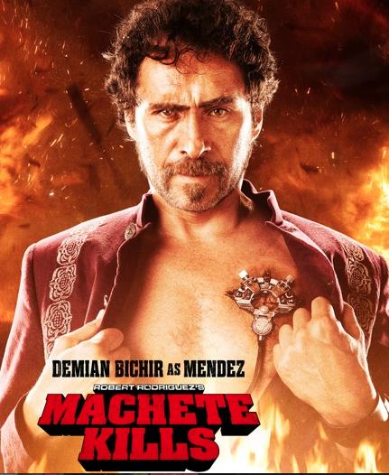 """Demián Bichir y su look de villano sexy en """"Machete Kills""""."""