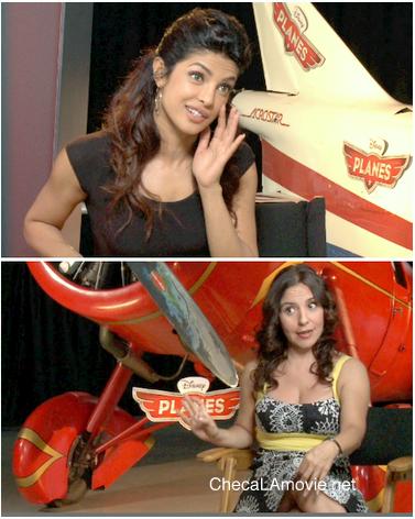"""Priyanka Chopra feliz de formar parte de""""Planes"""" (Aviones) de Disney. Habla español sin acento."""