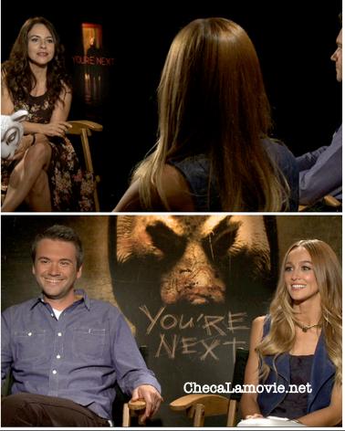 """""""Tú eres el siguiente"""" ¡Que miedo ! Entrevista con Sharni Vinson y A.J. Bowen """"You're Next""""."""