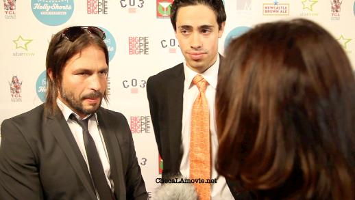 "Latinos en el ""HollyShorts Film Festival"": Steven Bauer, Sergio Vallín y Dan Carrillo."
