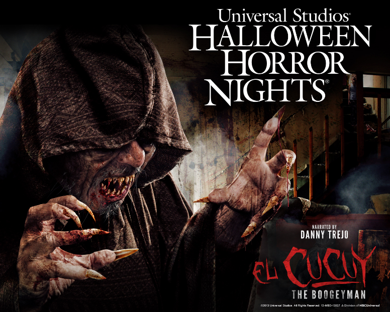 El Cucuy espanta en Hollywood. Halloween Horror Nights en Universal Studios. Hollywood.