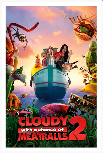 Anna Faris y Benjamin Bratt en Cloudy 2. La Venganza de las Sobras.