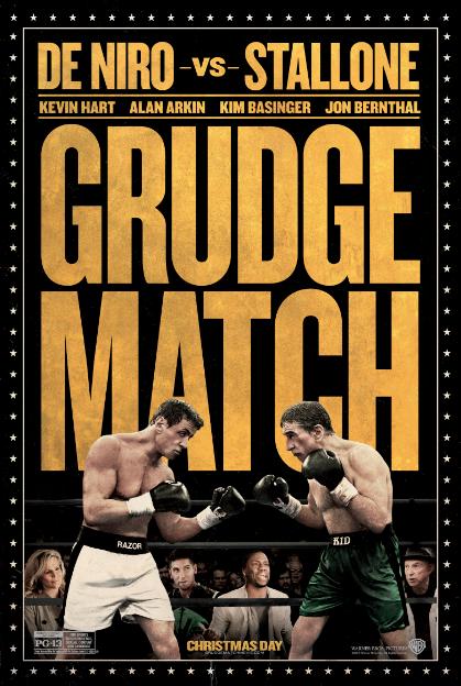 """Pósters de """"Grudge Match"""" con Robert De Niro y Sylvester Stallone."""