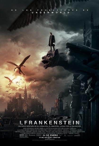 """""""I, Frankenstein"""", con Aaron Eckhart, en enero en los cines."""