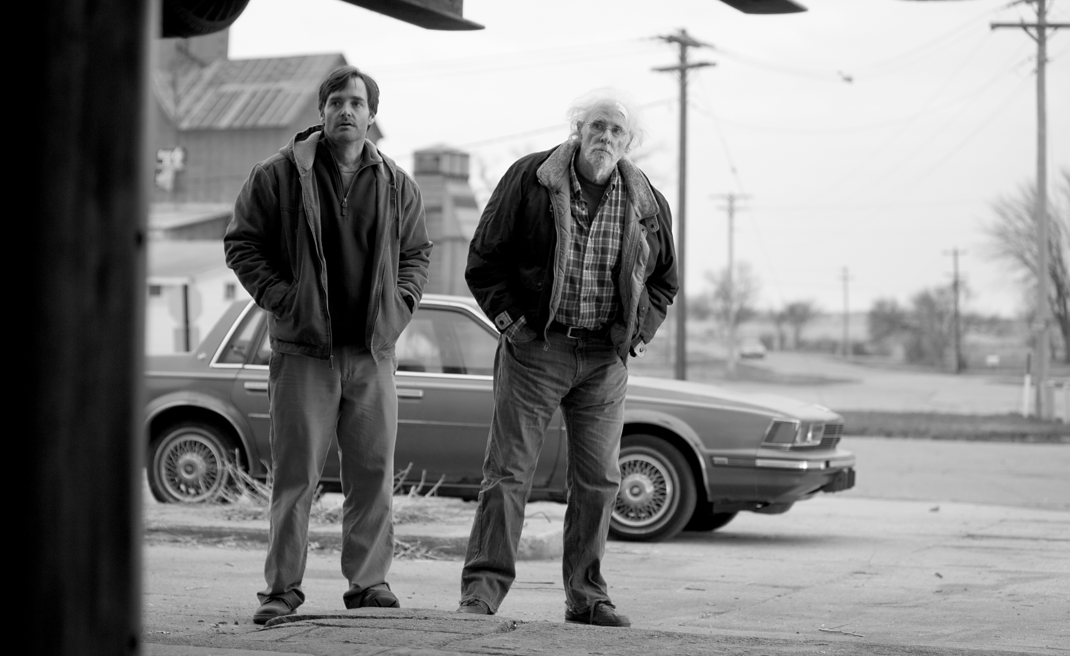 NEB-04685BW Photo credit: Merie Wallace (Left to right) Will Forte is David Grant and Bruce Dern is Woody Grant in NEBRASKA, from Paramount Vantage in association with FilmNation Entertainment, Blue Lake Media Fund and Echo Lake Entertainment. (c) MMXIII Paramount Vantage, A Division of Paramount Pictures Corporation. All Rights Reserved.