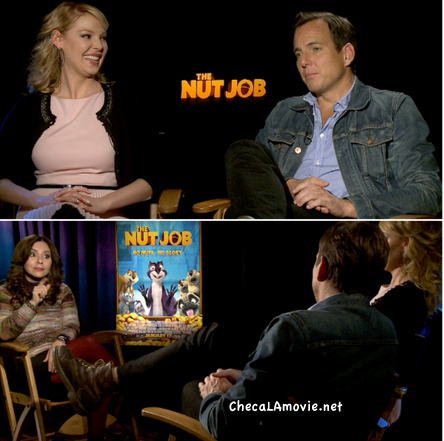 """Katherine Heigl, Will Arnett y la divertida experiencia de """"The Nut Job"""". Premier y Entrevista."""