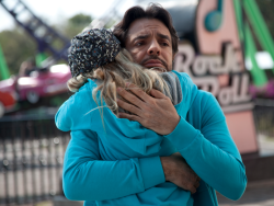 LORETO PERALTA as MAGGIE and EUGENIO DERBEZ as VALENTIN in Instructions Not Included. Photo credit: © Copyright Pantelion