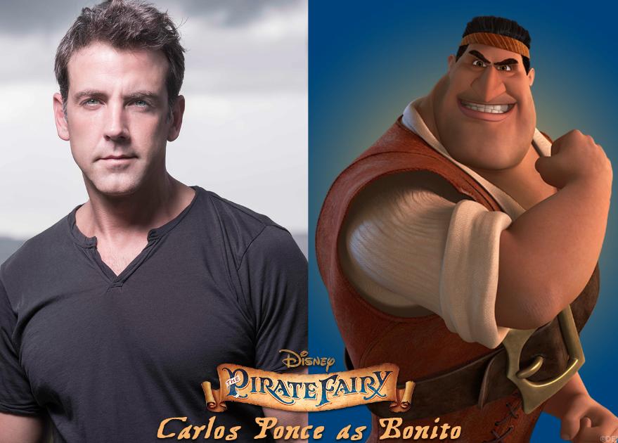 """Carlos Ponce es literalmente """"Bonito"""" en la cinta animada """"The Pirate Fairy"""" #HadaPirata"""