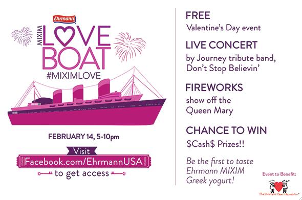 """Celebra San Valentín al estilo """"El Crucero del Amor"""" en el Queen Mary. Evento Gratis. #MIXIMLOVE #ad"""