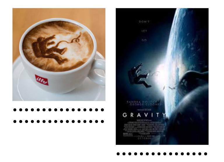 El artista Michael Breach y su versión caffe latté de los Nominados al Oscar.