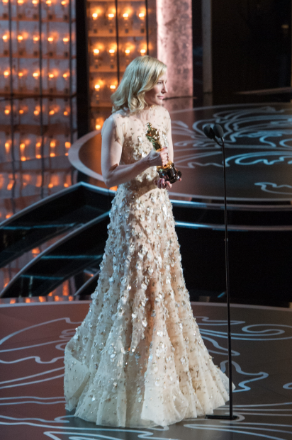 "The Oscar® for Performance by an actress in a leading role goes to Cate Blanchett for her role in ""Blue Jasmine"" during the live ABC Telecast of The Oscars® from the Dolby® Theatre in Hollywood, CA Sunday, March 2, 2014. credit: Darren Decker / ©A.M.P.A.S."