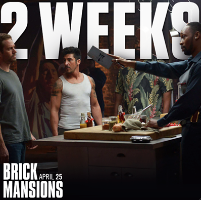 "Screening ""Brick Mansions"", la última película de acción que filmó Paul Walker."