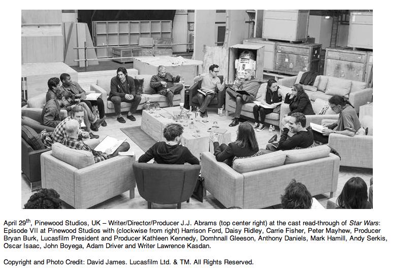Se anuncia elenco de Star Wars: Episode VII / La Guerra de las Galaxias: Episodio VII.