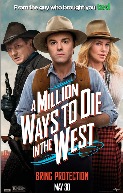 "Seth MacFarlane y Charlize Theron sobreviven en el Oeste: ""A Million Ways To Die in The West""."