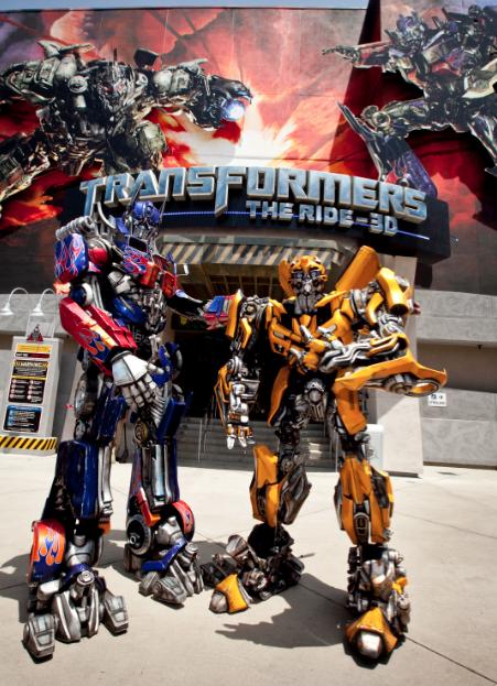 Experiencia única para los Fans de Transformers en Universal Studios Hollywood.