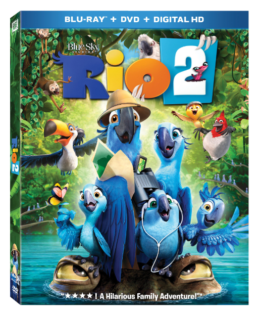 """A bailar samba en casa con el Blu-Ray y DVD de """"Río 2""""."""