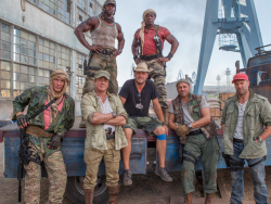 Harrison Ford stars as 'Max Drummer' in THE EXPENDABLES 3. Photo Credit: Phil Bray