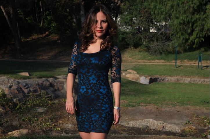 Mi vestido azul de Macy's para la Gala de #Latism14. Descubre mi secreto.