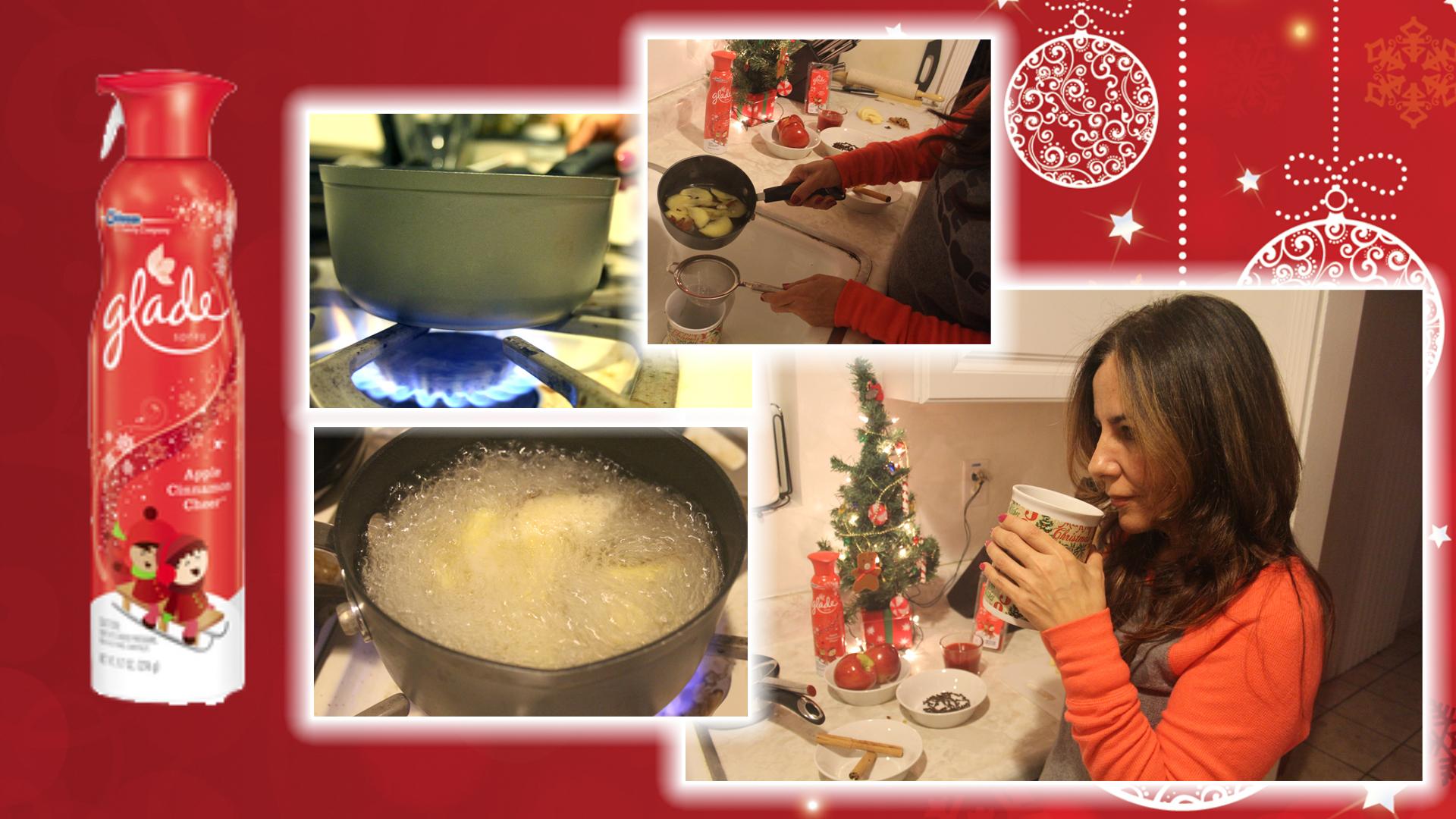 Té de manzana con canela inspirado en aromas navideños.