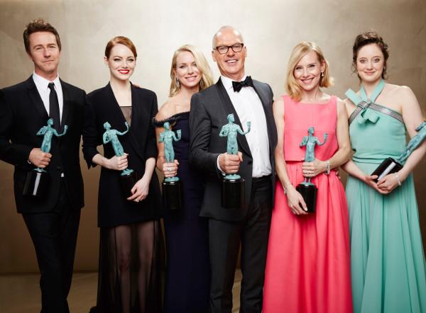 Galería de imágenes de ganadores de los Premios SAG en cine.