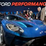Las estrellas de #FordNAIAS:  Ford GT, la camioneta F-150 Raptor y el Shelby® GT350R Mustang.