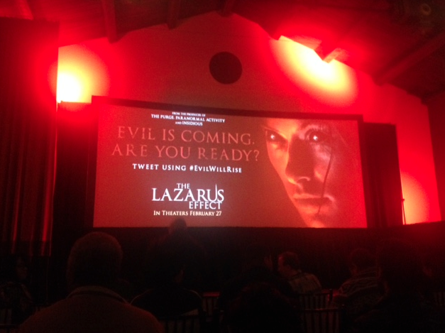 "Screening ""The Lazarus Effect"" en 5 ciudades de Estados Unidos #EvilWillRise."