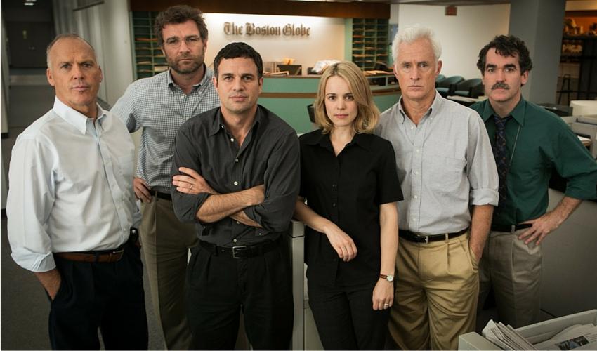 Spotlight ocupa la Primera Plana en los Oscar como Mejor Película.