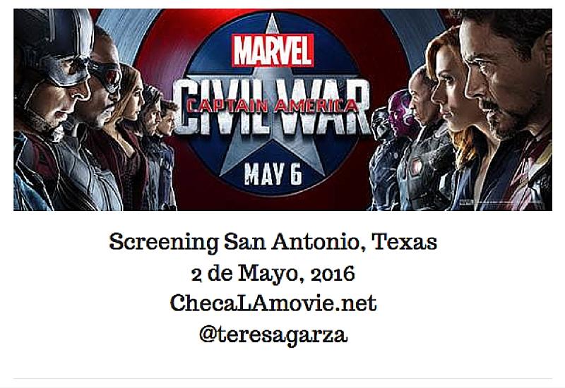 Screening Marvel CAPTAIN AMERICA: CIVIL WAR – San Antonio, TX.