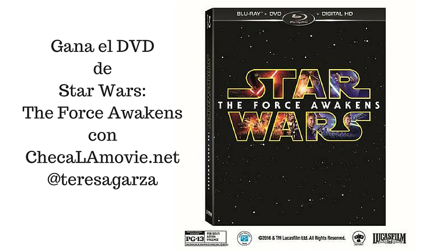 Gana el DVD de Star Wars: The Force Awakens.