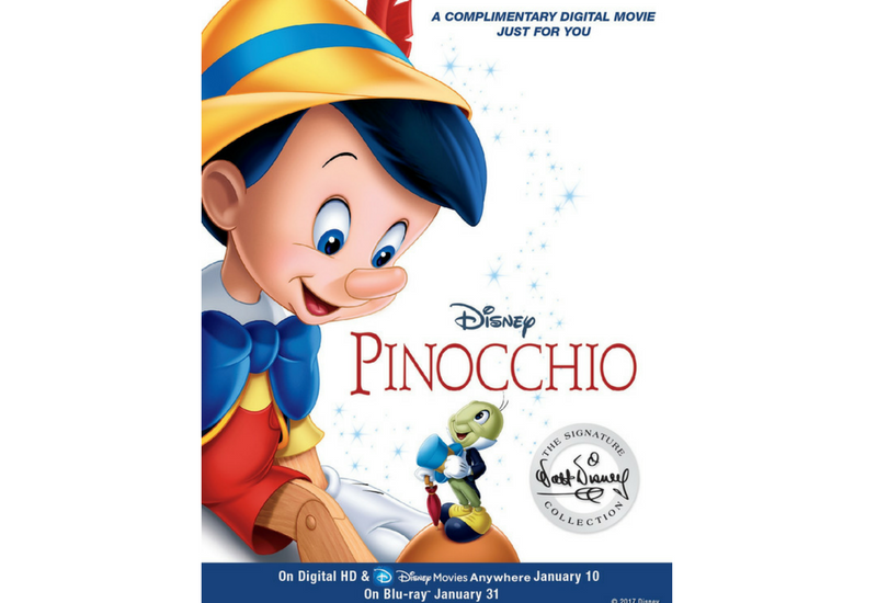 Sorteo Pinocchio, copia digital.