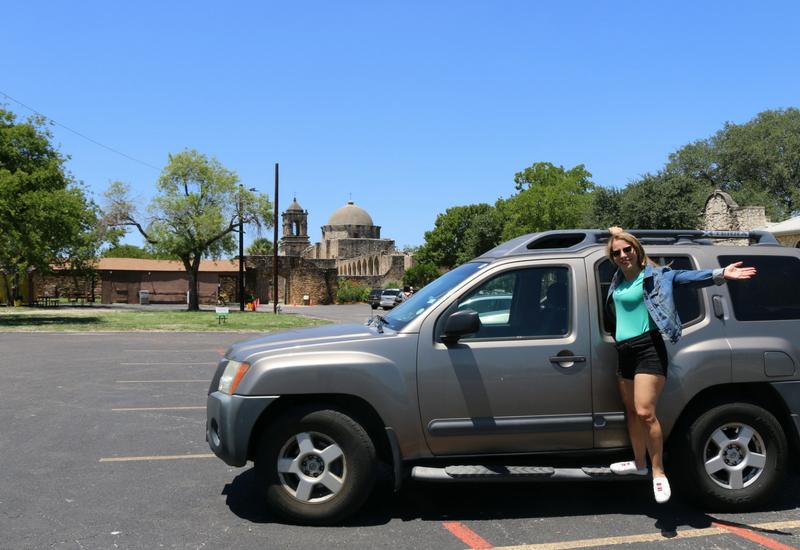 Cambio de aceite y visita a la Misión San José en San Antonio, Texas.